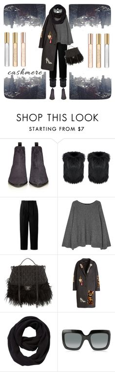 """Liquid Cashmere"" by tomi-vugrinec ❤ liked on Polyvore featuring Acne Studios, The Row, Chanel, Dolce&Gabbana, John Lewis, Gucci and Donna Karan"