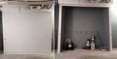 Our RSG5000 white powder coated security roller shutter securing a commercial property in South Kensington.
