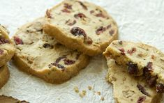 Cranberries and pecans, two symbols of the fall harvest, work beautifully in these rich shortbread cookies. Serve them with strong black tea or coffee for an afternoon treat. The dough freezes well, so keep a log in the freezer and you'll be prepared to provide visitors with freshly baked goodies at a moment's notice.
