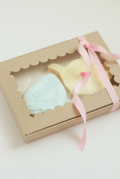 cute little tea pot and tea cup cookie packs for a baby shower