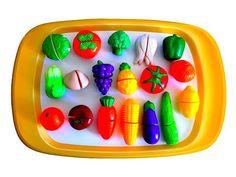 Impara i Nomi di Frutta e Verdura Giocando! Set di Giocattoli con Velcro da Tagliare! Per bambini - YouTube
