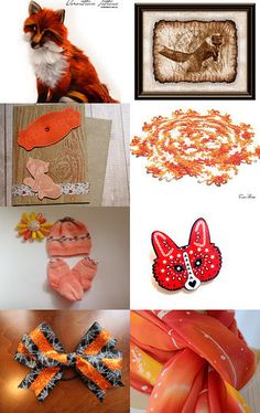 Foxy Orange - Get Ready for Autumn by Genia Meirov on Etsy--Pinned with TreasuryPin.com