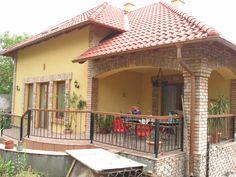 Szeletelt tégla homlokzatburkolat Terrace, Gazebo, Sweet Home, Places To Visit, Exterior, Outdoor Structures, Garden, Outdoor Decor, Modern
