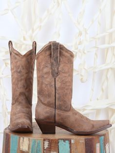 Cowgirl Clad Company - IN STOCK - Corral Distressed Naham C2033, $185.00 (http://www.cowgirlclad.com/in-stock-corral-distressed-naham-c2033/)
