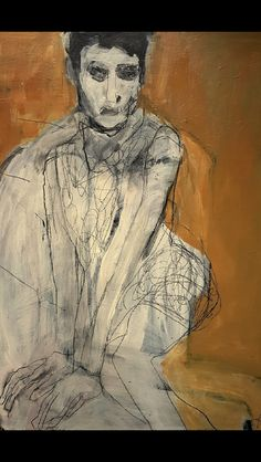 Large Painting, Figure Painting, Painting & Drawing, Blind Contour Drawing, Bizarre Art, Collage, Gcse Art, Pretty Art, Portrait Art