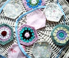 Crocheted and Floral Bunting