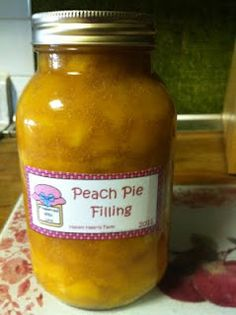 A Southern Belle in Missouri: Canning Peach Pie Filling