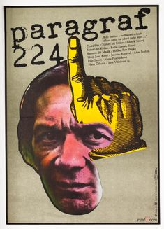 Vintage poster for Czech film Article 224, poster design: Karel Vaca, Czechoslovakia, 1980 | #vintageposters #collage #graphicdesign
