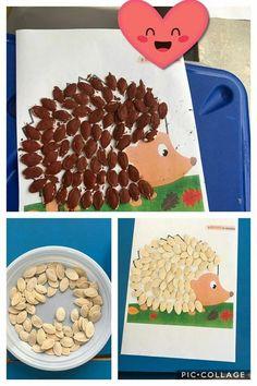 Autumn Crafts, Autumn Art, Nature Crafts, Animal Crafts For Kids, Fall Crafts For Kids, Diy For Kids, Autumn Activities, Preschool Activities, Diy Crafts Videos