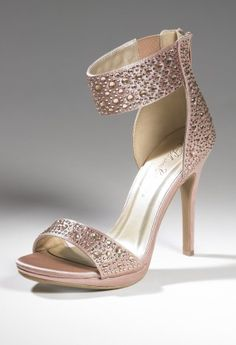 Shoes - High Heel Wide Stone Band Platform Sandal from Camille La Vie and Group USA