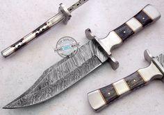 "11.75"" Custom made Beautiful Damascus Steel Bowie Knife (FSL-061-5) #UltimateWarrior"