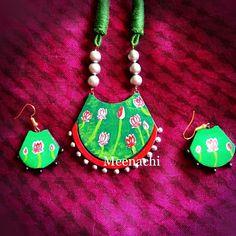 Teracotta Jewellery, Terracotta, Handmade Jewelry, Hand Painted, Christmas Ornaments, Holiday Decor, Kerala, Mythology, Diy