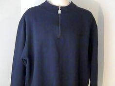 CARNIVAL Cruise Line Mens 2 XL Blue White Sweat Shirt  Polyester Cotton #CARNIVAL #Sweatshirt