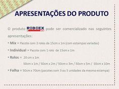Apresentações do Tecido Adesivado REDEEX Aplik disponíveis no mercado!