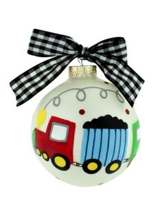 $13.75 4.5 Choo Choo Train Ball Ornament