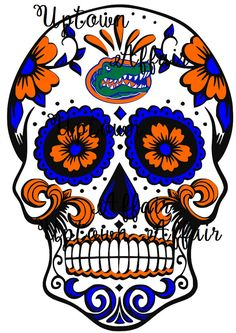 Florida Gators Sugar Skull Multi Layer SVG/PNG Cut by UptownAffair