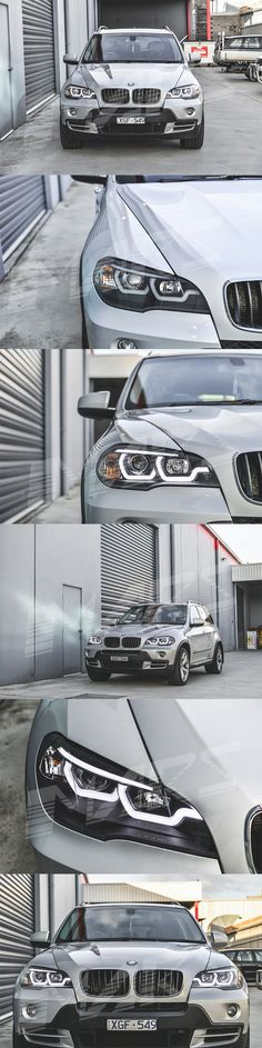 Black LED DRL projector Head Lights for BMW X-Series X5 E70 07-10 Pre LCI | Mars Performance