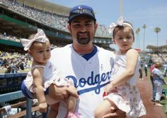 Adrian Gonzalez was enjoying his Father's Day at Dodger Stadium yesterday with his two daughters, pic via Dodgers on twitter. 2014