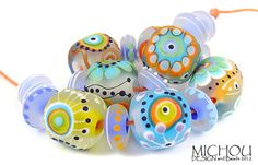 MICHOU- lampwork beads ♥Sugar Cubes♥
