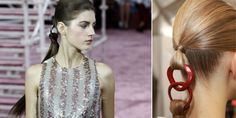 The ponytail jewellery at Dior Couture Spring 2015  - Cosmopolitan.co.uk