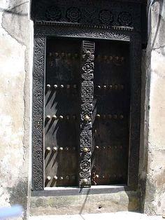 Africa | Door in Zanzibar | Photographer unknown