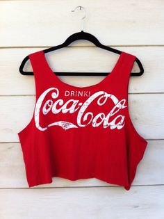 Vintage Coca Cola Cut Off Tank i love @Gerri Talevich Creep