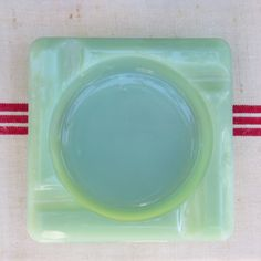 Jadeite Ashtray vintage by Fire-King. Fire-king ashtray ...