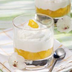 Joghurt-Mousse auf Maracuja-Pudding