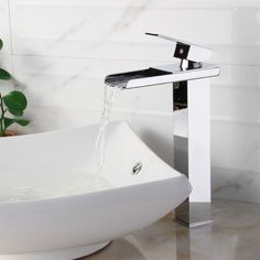 Found it at Wayfair - Single Handle Bathroom Waterfall Faucet