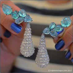 Susanne Syz Fine Jewellery Earrings with diamonds and Paraiba tourmalines
