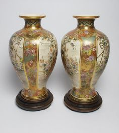 Antique pair of Japanese Satsuma pottery por SimonCurtisAntiques