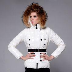 Green Moncler Jacket,Moncler Gene Women Fur Collar White Down Jacket Outlet - $211.65 Women Moncler online www.monclerlines....