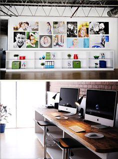 Zoe Portrait Art Studio Tour -- Our desktops are the original countertops used in the gun shop. <3