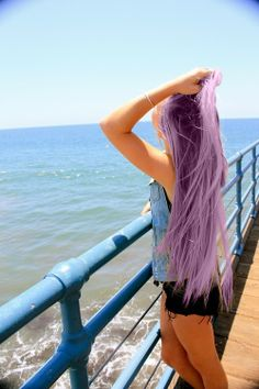 When I get older, my hair will be this color. instead of grey go with a shade of lavender that is cool!