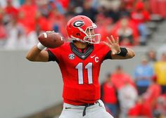 Georgia quarterback Greyson Lambert throws a pass in the first quarter against Southern on Sept. 26, 2015 at Sanford Stadium in Athens, Ga.