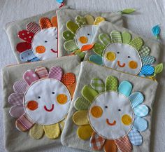 inch appliqued, lined pouch with zipper. Fabric Boxes, Fabric Scraps, Applique Patterns, Applique Designs, Sewing Crafts, Sewing Projects, Diy Accessoires, Techniques Couture, Baby Pillows