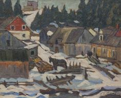 Paul - Painting by Frederick Banting Frederick Banting, Baie St Paul, Architecture, Artist, Image, Buildings, Paintings, Oil, Arquitetura