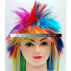 Multi Colored Lady Gaga Halloween Cosplay Costume Wig Women Men Kids SKU-158003