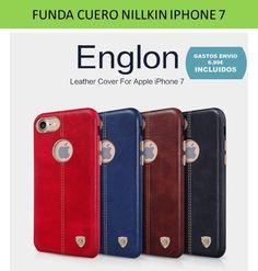 Funda iPhone 7 carcasa bumper de cuero piel para moviles Smartphone Apple.