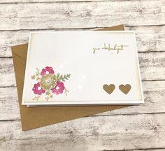 Hochzeitskarten - Hochzeitskarte BLUMEN & HERZEN - ein Designerstück von POMMPLA bei DaWanda