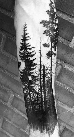 50 beautiful and meaningful tree tattoos, inspired by the way of nature - tattoos - # . 50 beautiful and meaningful tree tattoos, inspired by the way of nature - tattoos - # . - - # meaningful tattoos This image has get 124 Forest Tattoo Sleeve, Forest Forearm Tattoo, Forest Tattoos, Tattoo Forearm, Tattoos Of Trees, Man Arm Tattoo, Cuff Tattoo, Nature Tattoo Sleeve, Forearm Sleeve