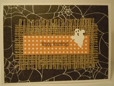Halloween Handmade Greeting Card with Ghost and by lindaoakes, $3.00