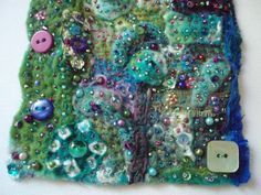 fabric collage close-up | by Createarian