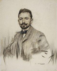 Portrait Of Serafin Alvarez Quintero  Ramon Casas
