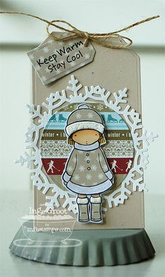 Patterned Paper : Tutorial Tag, Keep Warm Stay Cool