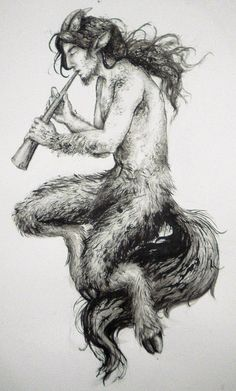 I love satyrs ^^ . Lewis depicts them in The Chronicles of Narnia (as charming, shy creatures) Satyr Pan Mythology, Greek Mythology Gods, Greek Mythology Tattoos, Greek Gods, Gods And Goddesses, Greek God Tattoo, Male Fairy, Greek Pantheon, Fantasy Art Men