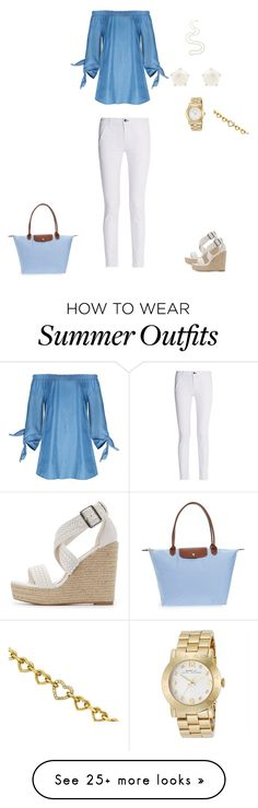 """Summer outfit, July 27, 2017"" by angelagold on Polyvore featuring rag & bone, Charlotte Russe, Longchamp, Lulu Frost, Marc by Marc Jacobs and Avon"