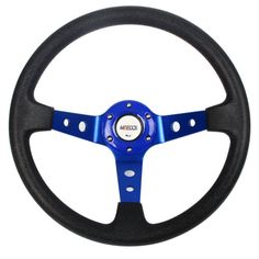Car steering #wheel blue deep dish #drifting/track pvc #sport race with horn butt, View more on the LINK: http://www.zeppy.io/product/gb/2/201614525396/