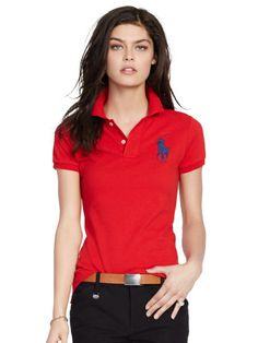 MOST WANTED - Skinny-Fit Big Pony Polo Shirt - Polo Ralph Lauren Polos -  RalphLauren.com - Size Large 7727b612093
