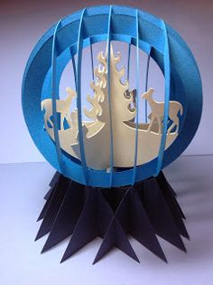 Papercrafts and other fun things: Paper Snow Globe Sliceform for Christmas Gift Giving